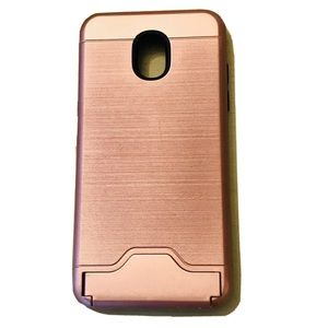 Rose Gold Stand Phone Case Samsung Galaxy J3 Orbit